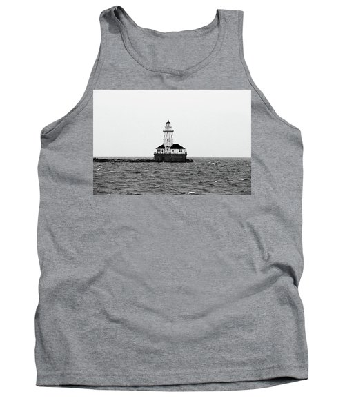 The Lighthouse Black And White Tank Top