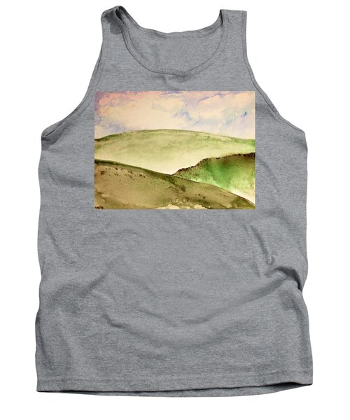 Tank Top featuring the painting The Little Hills Rejoice by Antonio Romero