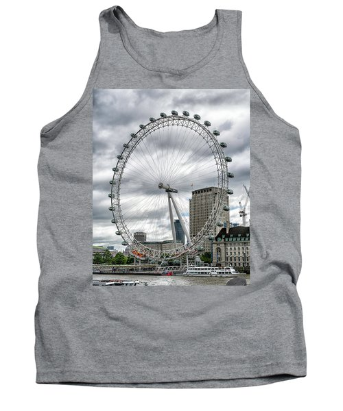Tank Top featuring the photograph The London Eye by Alan Toepfer