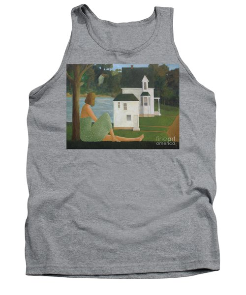 The Lonely Side Of The Lake Tank Top by Glenn Quist