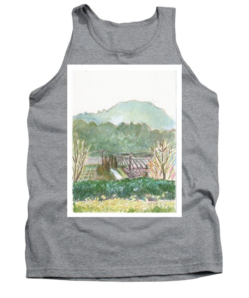 Tank Top featuring the painting The Luberon Valley by Tilly Strauss