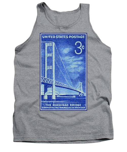 The Mackinac Bridge Stamp Tank Top