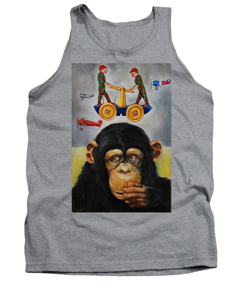The Magnificent Flying Strauss Tank Top by Jean Cormier