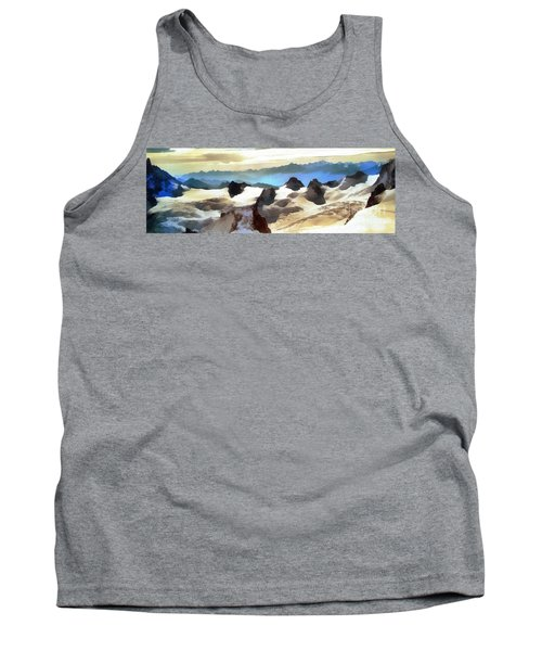 Tank Top featuring the painting The Mountain Paint by Odon Czintos