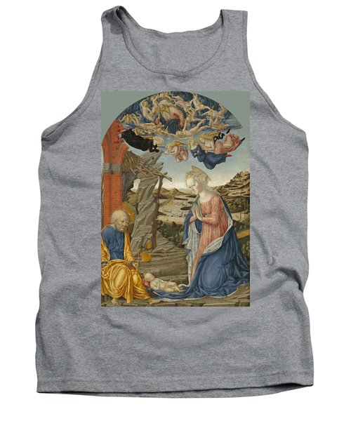 The Nativity With God The Father Surrounded By Angels And Cherubim Tank Top