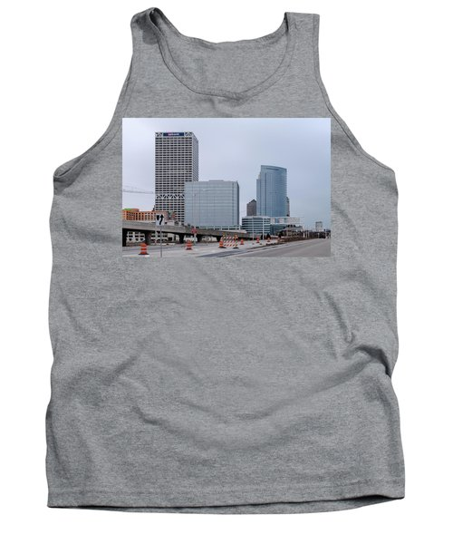 Tank Top featuring the photograph The New Milwaukee Skyline by Randy Scherkenbach