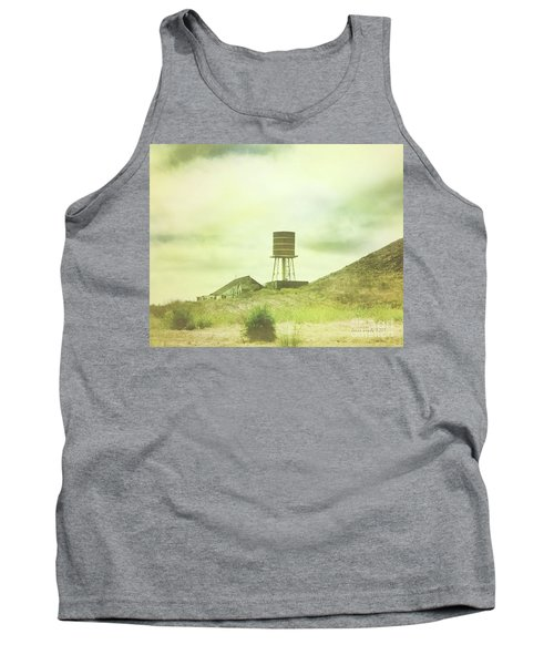The Old Barn And Water Tower In Vintage Style San Luis Obispo California Tank Top