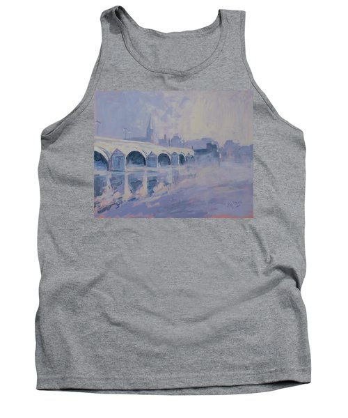 The Old Bridge In Morning Fog Maastricht Tank Top
