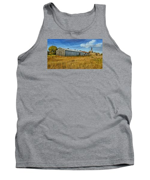 Tank Top featuring the photograph The Old Peters Factory 01 by Kevin Chippindall