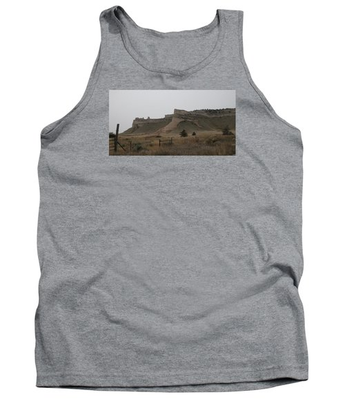 The Oregon Trail Scotts Bluff Nebraska Tank Top by Christopher Kirby