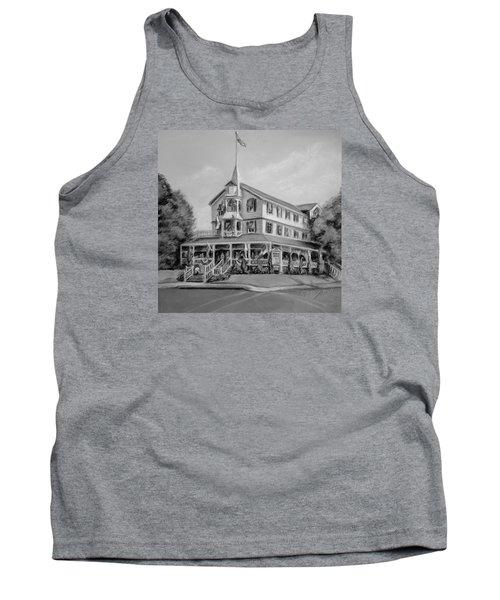 The Parker House Black And White Tank Top by Melinda Saminski