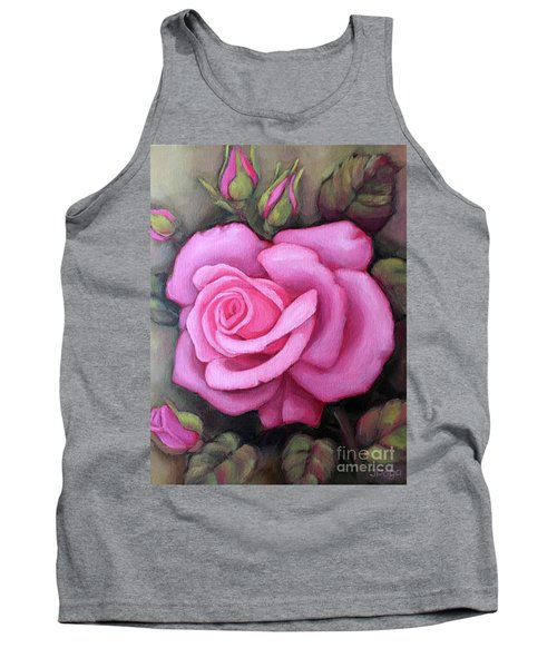 The Pink Dream Rose Tank Top