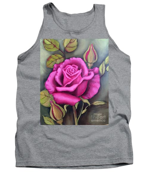 The Pink Rose Tank Top by Inese Poga