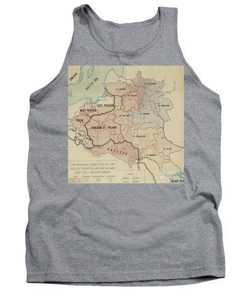 The Political Subdivision Of The Polish Territory Before The War And Its Linguistic Areas, 1918 Tank Top