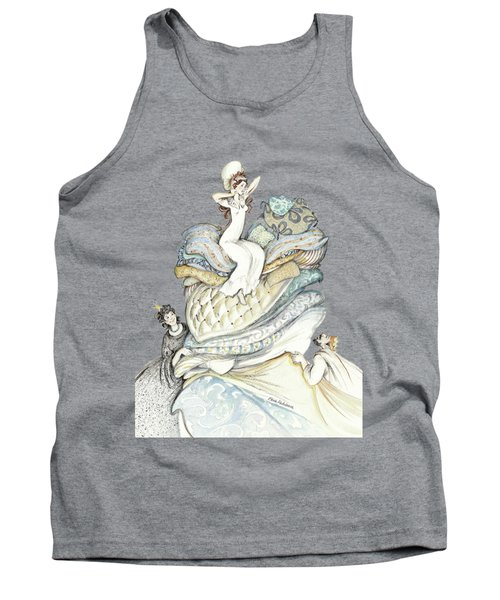 The Princess And The Pea, Illustration For Classic Fairy Tale Tank Top