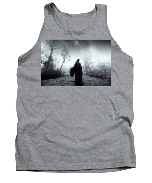 The Reaper Moving Through Mist And Fog Tank Top