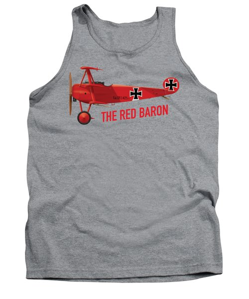The Red Baron's Fokker Dr.1 - Side Print Tank Top