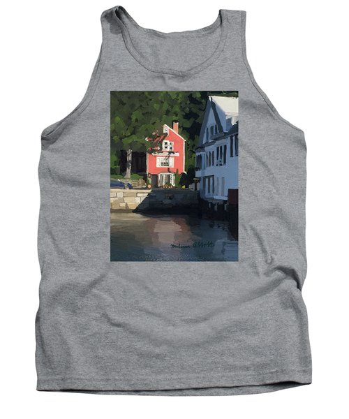 The Sacred Cod And Beacon Marine Tank Top by Melissa Abbott