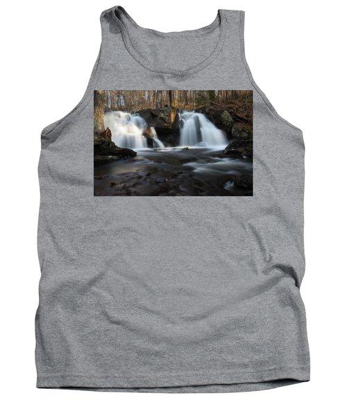 The Secret Waterfall In Golden Light Tank Top
