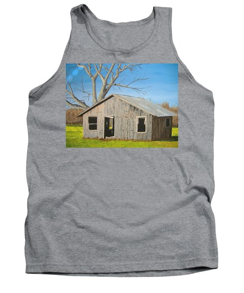 Tank Top featuring the painting The Shack by Norm Starks