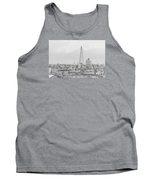 The Shard Outline Poster Bw Tank Top