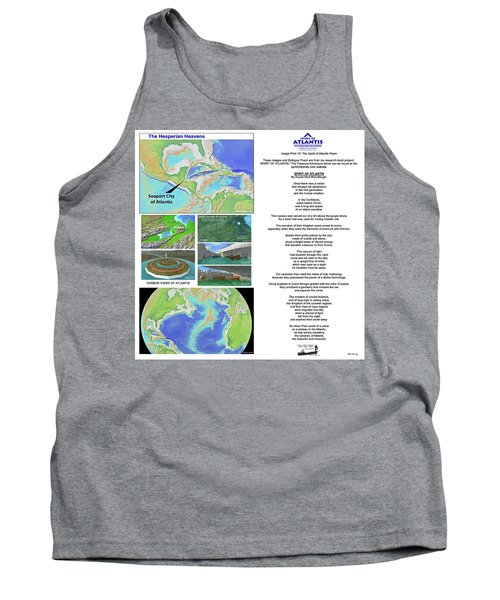 The Spirit Of Atlantis Poem Tank Top