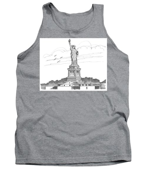 The Statue Of Liberty Lighthouse Tank Top