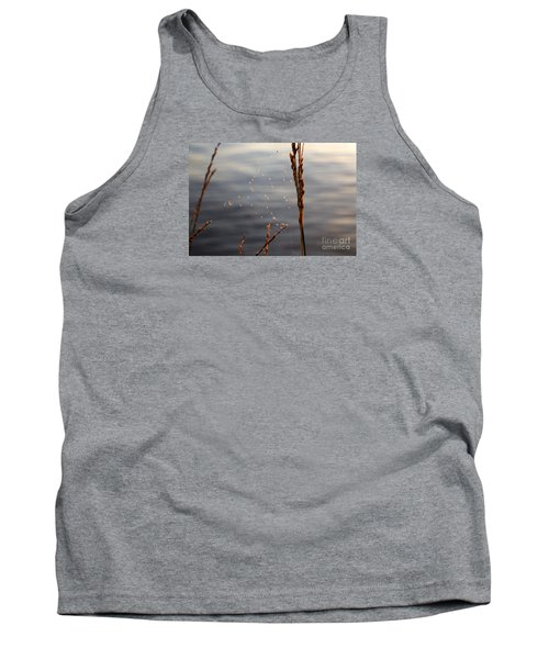 Tank Top featuring the photograph The Tangled Webs We Weave by Rebecca Davis