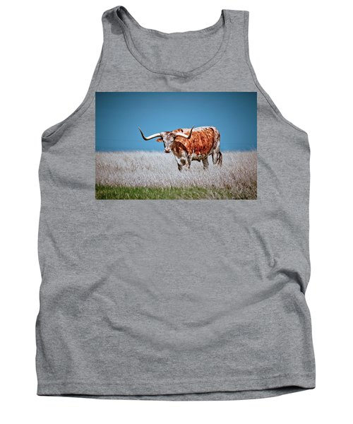 Tank Top featuring the photograph The Texas Longhorn by Linda Unger