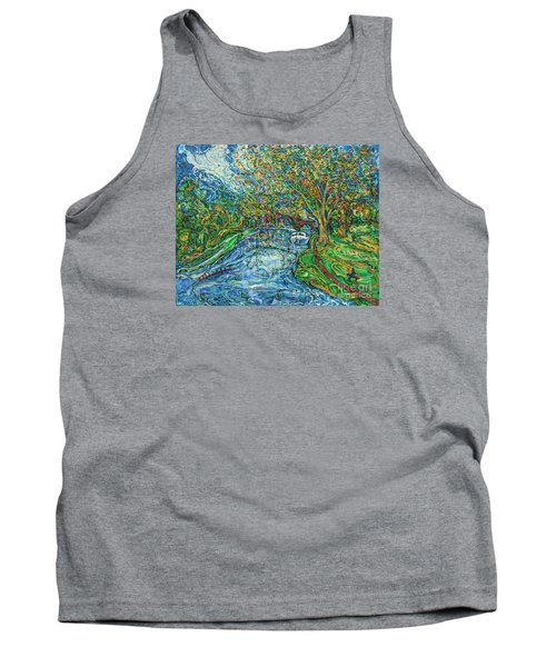 The Thames At Oxford Tank Top by Anna Yurasovsky