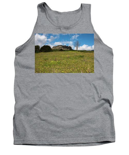 Tank Top featuring the photograph The Three Finger Mountain by Bruno Spagnolo