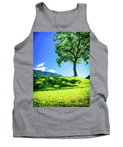 Tank Top featuring the photograph The Tree On The Hill by Silvia Ganora