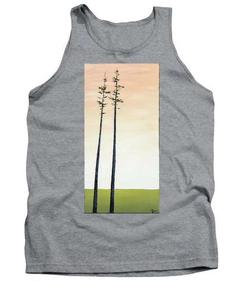 The Trees Are So Tall Here   Tank Top by Carolyn Doe