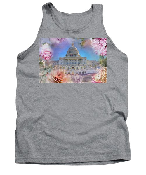 The Us Capitol Building At Spring Tank Top