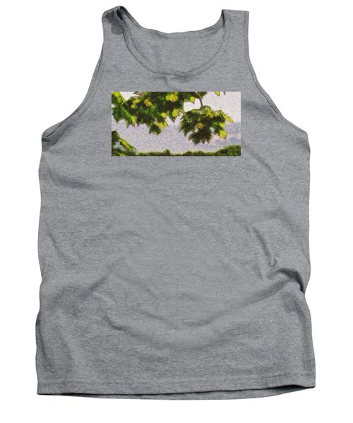 Tank Top featuring the digital art The Vibrating Sky Beyond by Spyder Webb