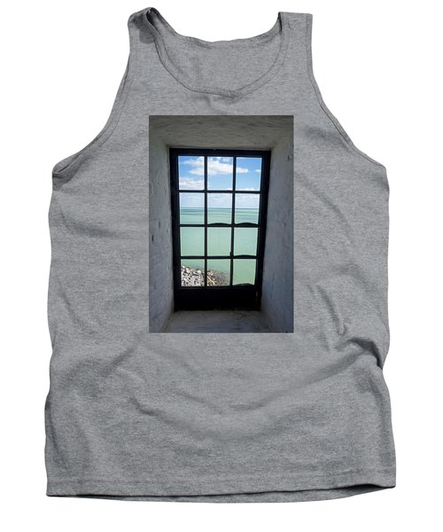 The View From The Lighthouse Window Bill Baggs Lighthouse Key Biscayne Florida Tank Top