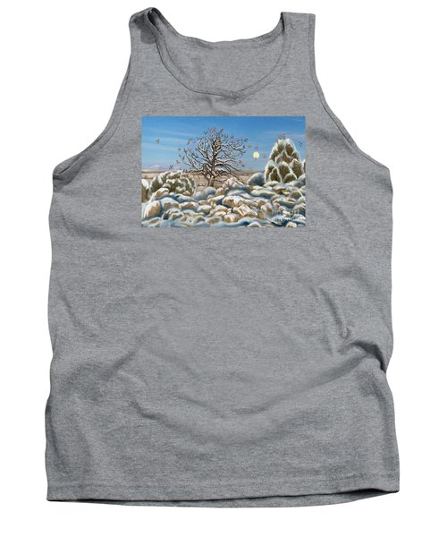 The Waxwing Tree Tank Top by Dawn Senior-Trask