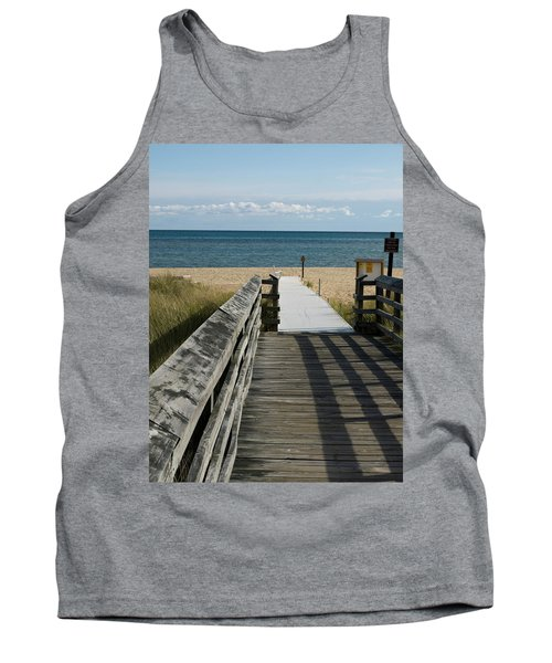 Tank Top featuring the photograph The Way To The Beach by Tara Lynn