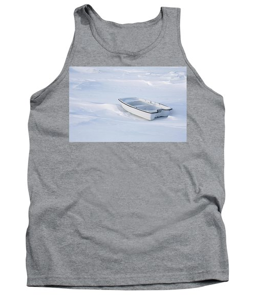 The White Fishing Boat Tank Top by Nick Mares