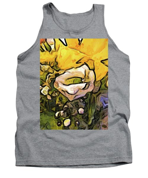 The White Rose With The Eye And Gold Petals Tank Top