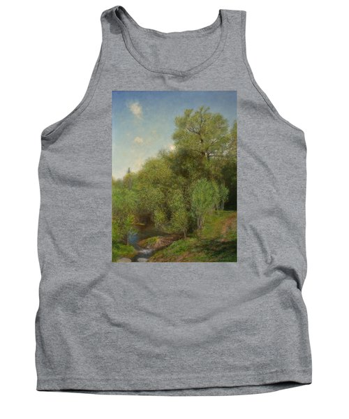 Tank Top featuring the painting The Willow Patch by Wayne Daniels
