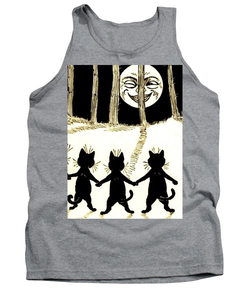 The Wink Six Black Pussy Cats Tank Top