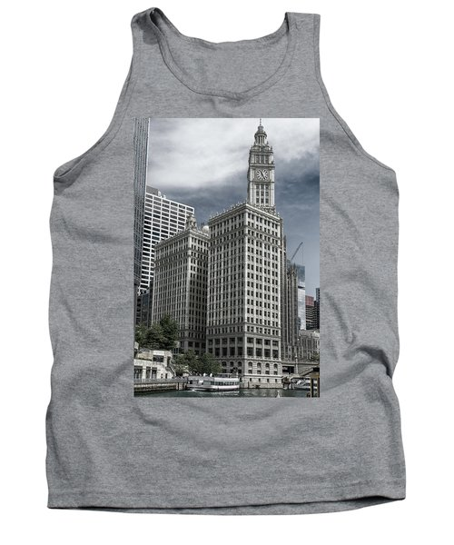 Tank Top featuring the photograph The Wrigley Building by Alan Toepfer