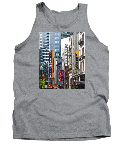 Tank Top featuring the photograph Theatre District by Stephen Flint