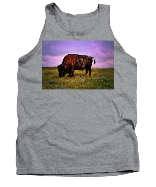 Tank Top featuring the photograph Theodore Roosevelt National Park 008 - Buffalo by George Bostian