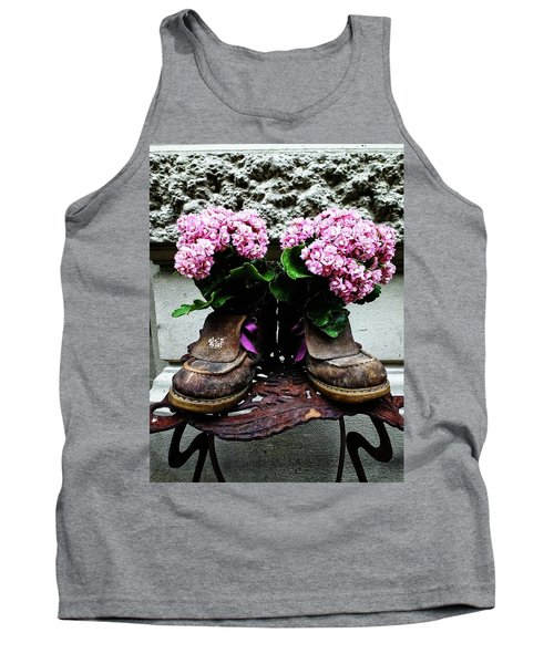 These Boots Are Made For Flowers Tank Top