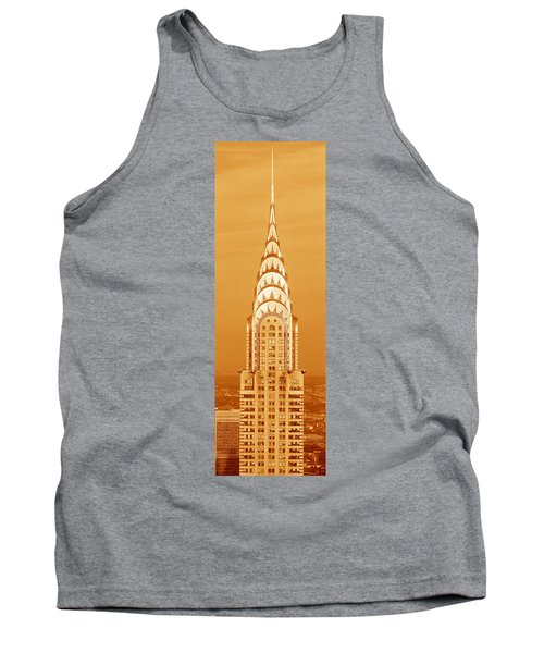 Chrysler Building At Sunset Tank Top by Panoramic Images