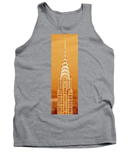 Chrysler Building At Sunset Tank Top
