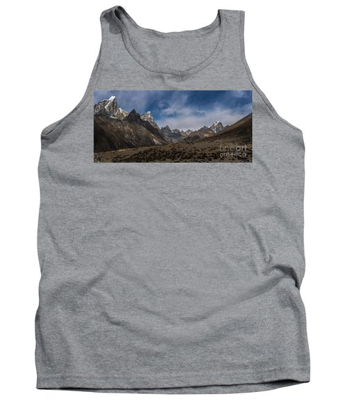 Tank Top featuring the photograph Thokla Pass Nepal by Mike Reid