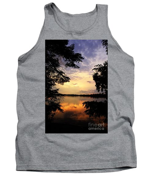 Tank Top featuring the photograph Thomas Lake Sunset 2 by Larry Ricker